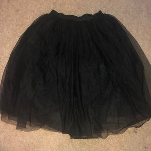 Medium Hot Monde Black Tulle Skirt